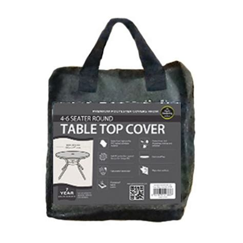 table top cover 4 6 seater table top cover black