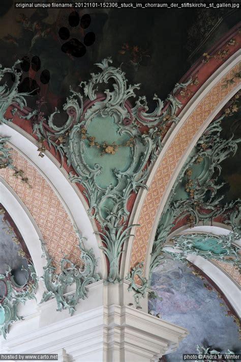Der Stuck by Stuck Im Chorraum Der Stiftskirche St Gallen
