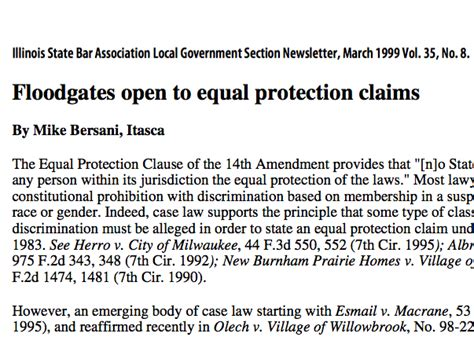 Open Section 8 List In Illinois by Floodgates Open To Equal Protection Claims Hervas