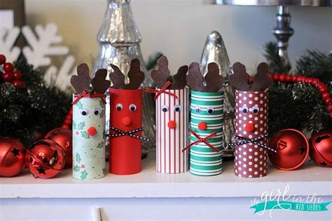 christmas decorations out of toilet rolls decorations with rustic charm