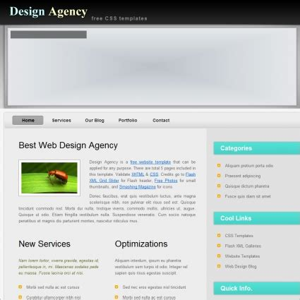 free css website templates for advertising agency agency free website templates in css html js format for
