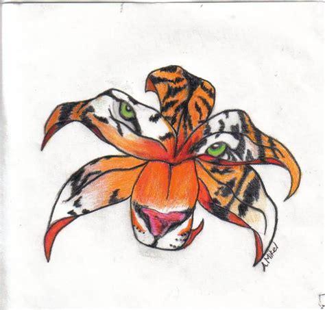 tiger lily tattoo designs mind blowing tiger design truetattoos