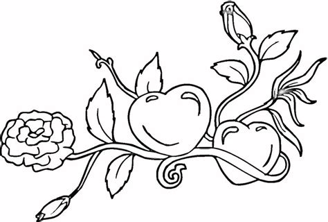 hearts with flames coloring pages widescreen 2 high