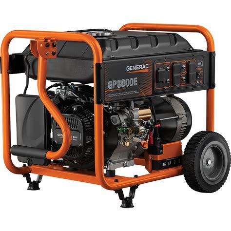 Bolam Emergency 5 Watt Free Shipping Generac Gp8000e Portable Generator