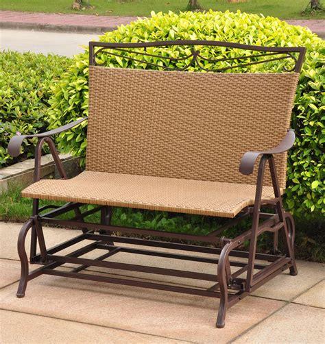 wicker glider patio furniture patio glider resin wicker in gliders