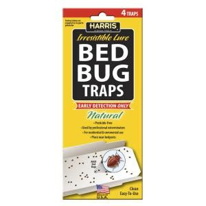 harris bed bug traps harris bed bug traps with 25 irresistible lures 4 pack