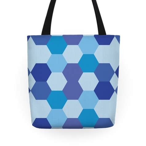 Hexagon Tote Bag Pattern   blue hexagon pattern tote bags grocery bags and canvas