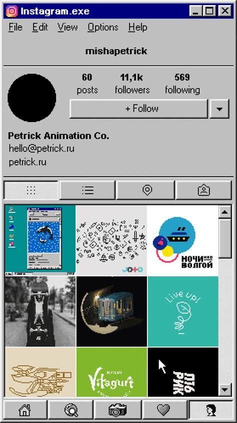 design and live instagram instagram for win95 on behance