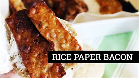 Things To Make With Rice Paper - how to make vegan bacon rice paper bacon s test