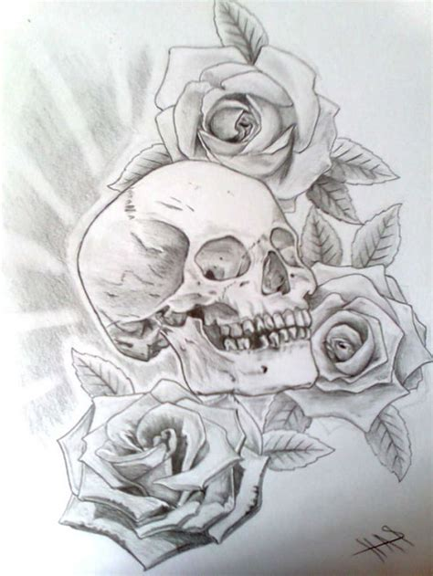 skull rose tattoo designs the 8 best skull and designs images on