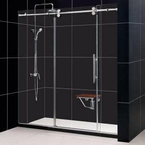 Sliding Shower Doors Home Depot by Dreamline Enigma 68 In To 72 In X 79 In Frameless