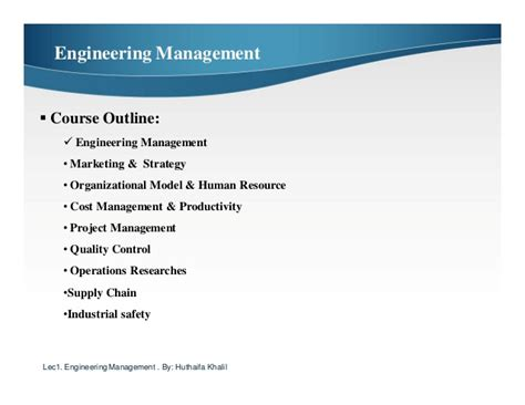 Difference Between Engineering Management And Mba by Engineering Management