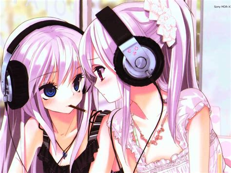 anime wallpaper girl with headphones cute headphone girls anime paradise wallpaper