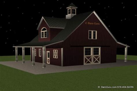 barn apartments plans barn plans with living quarters 4 stalls 2 bedrooms