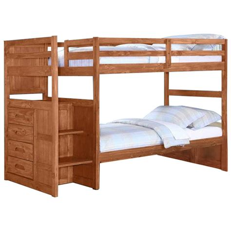 bunk beds with staircase staircase bunk bed merlot finish images