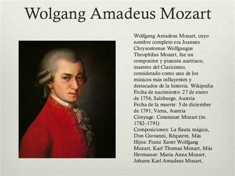 mozart biography ppt biografia de w a mozart mozart proyecto powerpoint