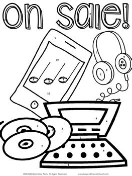 coloring tips percent discount taxes and tips coloring worksheet by