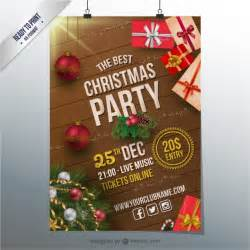 christmas party cmyk flyer vector free download