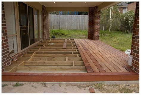 wood deck  concrete patio deck design  ideas