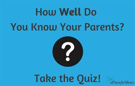 How Well Do You Your by How Well Do You Your Parents Quiz