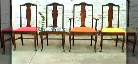 How To Upholster A Dining Room Chair How To Re Upholster Vintage Dining Room Chairs 171 Construction Repair Wonderhowto