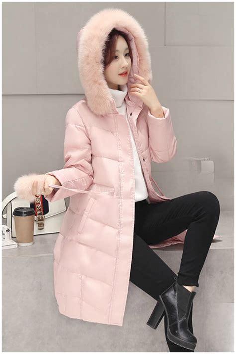 Bulu Korea Pink jaket coat musim dingin pink fur coat
