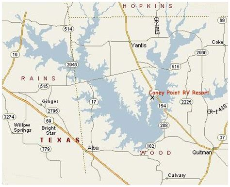 map of lake fork texas about lake fork texas and location map of caney point rv resort