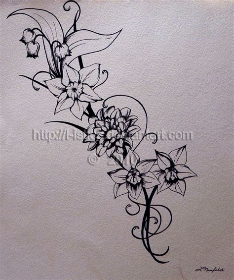 november tattoos november birth flower december narcissus flower