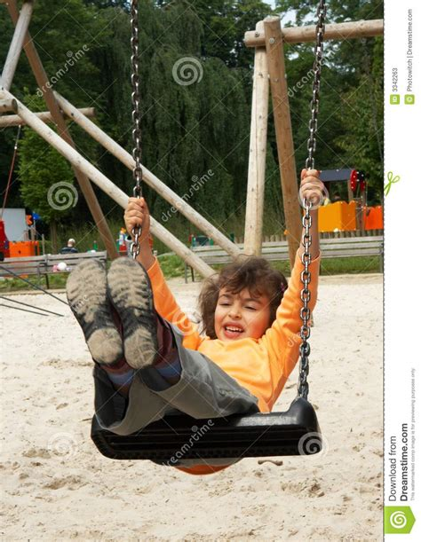 girl on the swing girl on the swing stock photos image 3342263
