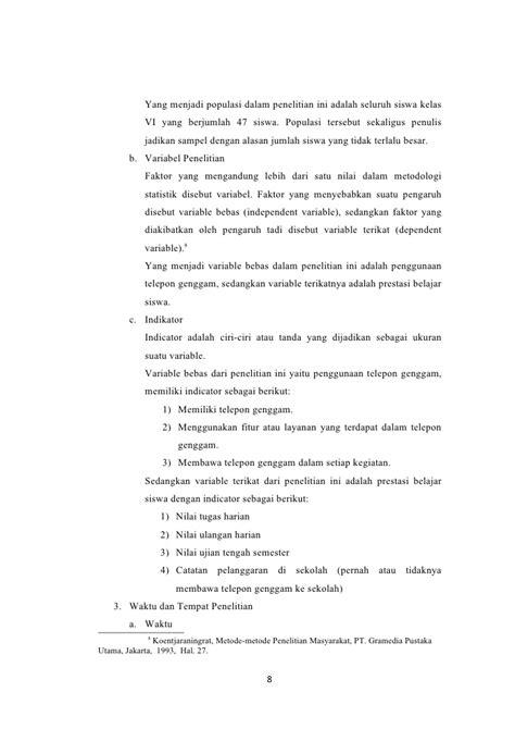 format proposal metodologi penelitian proposal penelitian