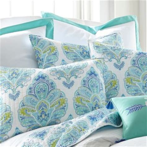 Blue Quilted Pillow Shams by Buy Quilted Pillow Shams Blue And White From Bed Bath Beyond