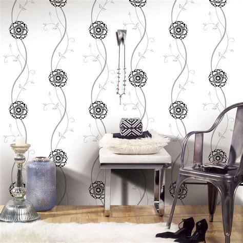 jual wallpaper dinding bunga simple minimalis black
