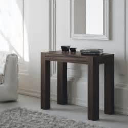 tavolo ingresso consolle moderna da ingresso allungabile rovere moro gambe