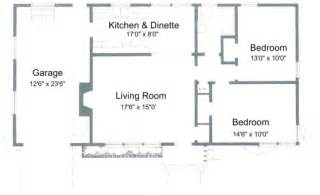 Simple Two Bedroom House Plans by Simple House Plan With 2 Bedrooms House Floor Plans