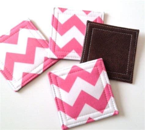pattern fabric coasters fabric coasters love the chevron pattern crafts