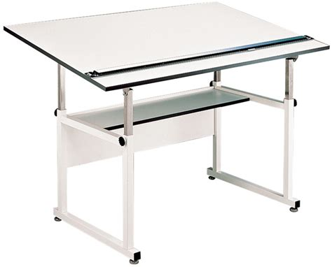 Professional Drafting Tables Alvin Workmaster Professional Drafting Table White Base 37 5 X 72 Top
