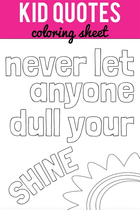 printable childrens quotes kid quote coloring pages capturing joy with kristen duke