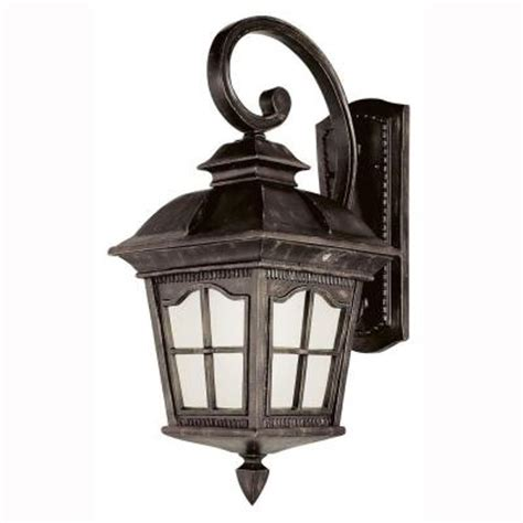 heath zenith 180 degree black alexandria lantern with
