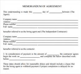 Sample Memorandum Of Agreement Template Memorandum Of Agreement 9 Free Pdf Doc Download