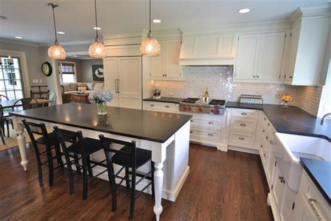 kitchen island instead of table l shaped w island use old kitchen table instead of