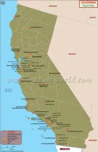 airports in california california airports map