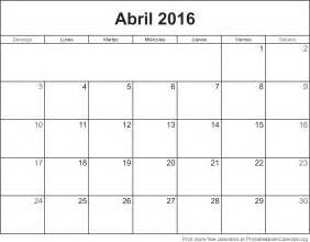 Calendario 2018 Abril Calendario Abril 2016 Para Imprimir Calendarios Para
