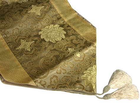 Decorative Table Runners by Bronze And Gold Lotus Traditional Decorative Table