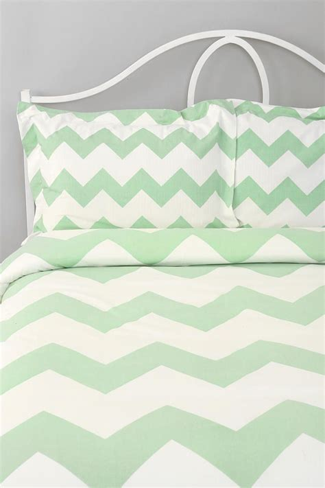 mint green bed sheets mint chevron bedding home pinterest urban it is