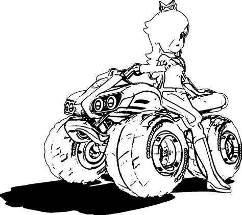Rosalina Artwork Mario Kart 8 With Car Coloring Page Mario Kart 8 Coloring Pages