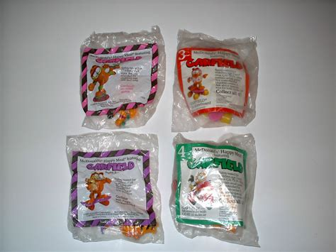 Mcdonald S One Summer Toys set of 4 mcdonalds happy meal toys garfield collection new ebay
