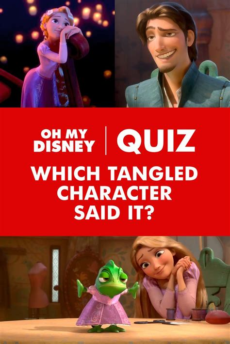film character quiz quiz which tangled character said it disney tangled