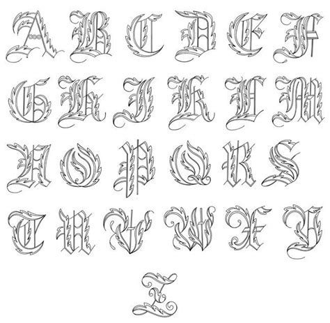 fancy tattoo fonts script fonts for tattoos a z writing fonts i