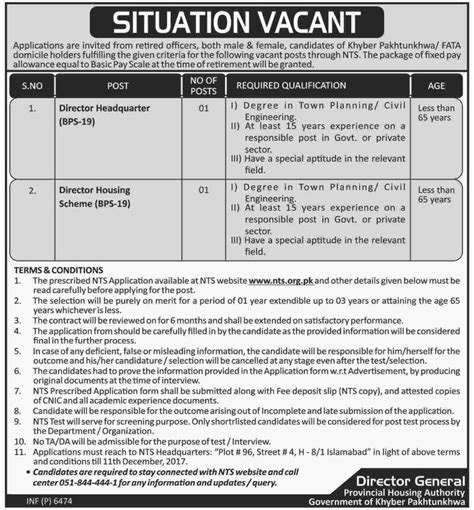 housing authority number kpk provincial housing authority nts jobs december roll number slips results 2018
