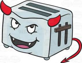 How To Use A Toaster Oven Devilish Pop Up Toaster Smiling With Fangs Horns And Tail